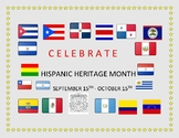 HISPANIC HERITAGE MONTH SIGN - FOR CLASSROOM, AND BULLETIN BOARD