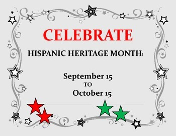 HISPANIC HERITAGE MONTH -SIGN FOR YOUR CLASSROOM