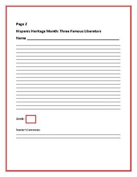 HISPANIC HERITAGE MONTH: THREE FAMOUS LIBERATORS
