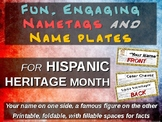 HISPANIC HERITAGE MONTH name tags - 30 names (printable, foldable)