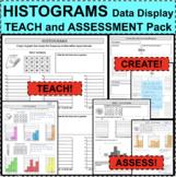 HISTOGRAMS Data Statistics Analysis Teach Assess Create Pack NOTES & QUIZ