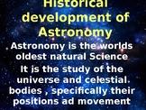 HISTORICAL DEVELOPMENT OF ASTRONAMY