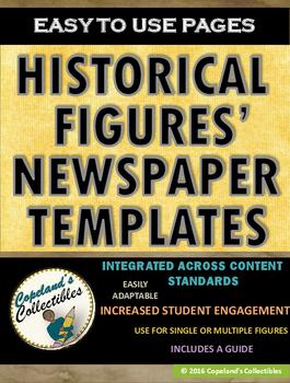 HISTORICAL FIGURES' NEWSPAPER TEMPLATE