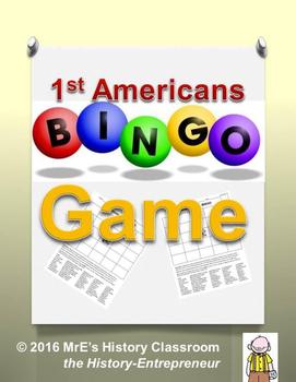 HISTORY  1st Americans BINGO game