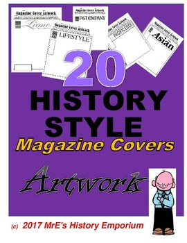HISTORY 20 Magazine Covers Artwork for students