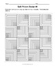 HISTORY/ANY SUBJECT - Quilt Pattern Design Worksheets