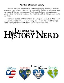HISTORY Another Change One Event Activity