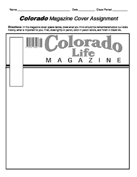 HISTORY  Colorado Magazine Cover