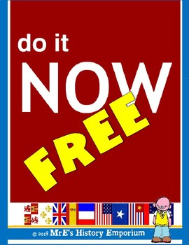 HISTORY  FREE  Do It Now assignment ideas