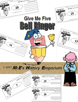 """HISTORY """"Give Me Five"""" answers Bell Ringers Vol. 01"""