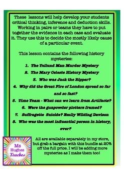 HISTORY MYSTERIES GROWING BUNDLE!