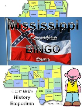 HISTORY   Mississippi Counties BINGO game