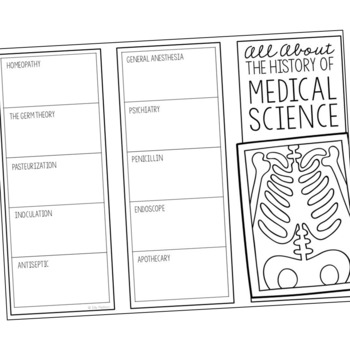 HISTORY OF MEDICAL SCIENCE Research Brochure Template, World History Project