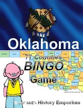 HISTORY    Oklahoma Counties BINGO game