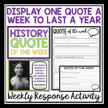 HISTORY QUOTE POSTERS & ASSIGNMENT