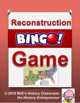 HISTORY  Reconstruction BINGO game