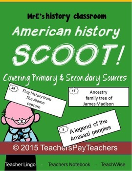 AMERICAN HISTORY - Primary & Seconday Sources Scoot