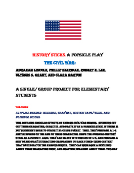 HISTORY STICKS: CIVIL WAR: A POPSICLE PLAY