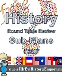 HISTORY Sub Plans Round Table Review worksheet