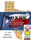 HISTORY   Texas Counties BINGO game