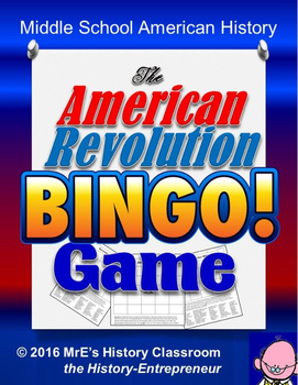 HISTORY  The American Revolution BINGO game