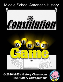 HISTORY  The Constitution BINGO game