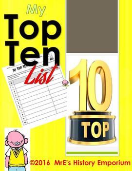HISTORY  Top Ten Lists