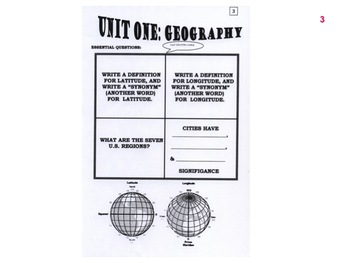 HISTORY US II:  GEOGRAPHY  (aligned with the Virginia Standards of Learning)