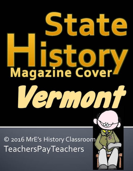 HISTORY  Vermont Magazine Cover