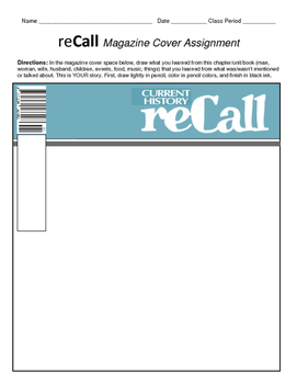 HISTORY  reCall Magazine Cover project