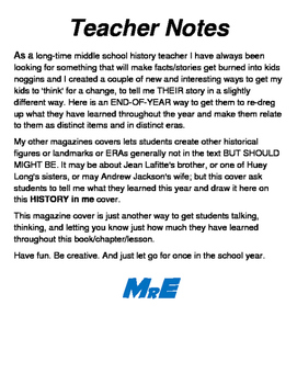 HISTORYinme Magazine Cover End-Of-Year Project