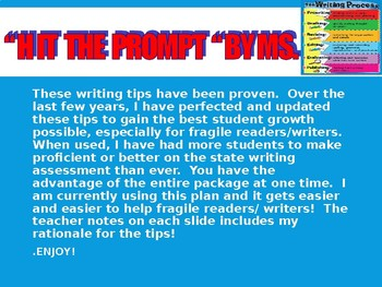 HIT THE PROMPT -  STATE WRITING ASSESSMENT TIPS