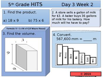 HITS Daily Math Spiraled Warm ups!
