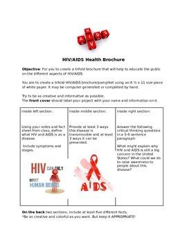 HIV/AIDS Brochure Activity