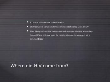HIV AIDS High School Power Point