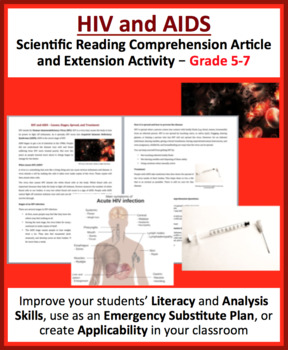 HIV and AIDS - Science Reading Article - Grades 5-7