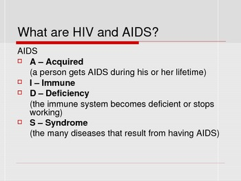 HIV/AIDS PowerPoint