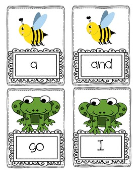 Hibernation Sight Word Game for Literacy Center