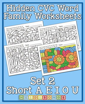 Hidden CVC Word Family Worksheets, Vol. 2