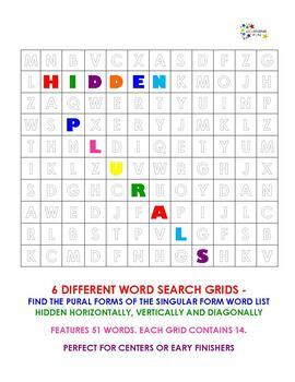 HIdden Plurals - 6 word searches