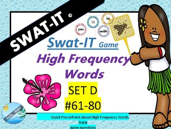 HIgh Frequecy SIGHT WORDS - SET D #61-80
