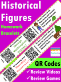 Historical Figures in American History {First Grade Homework with QR codes}