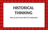Historical Thinking Printable Cards (Editable)