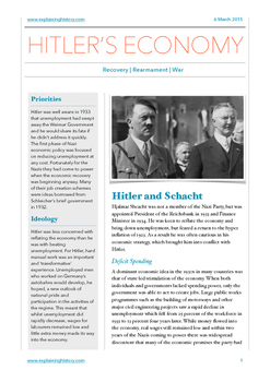 HItler's Economic Policy: Part One