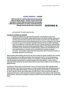HL Mock Exams with Marking Notes: Citizenship and Global Warming