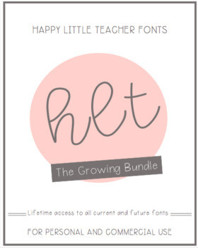 HLT Fonts Growing Bundle
