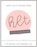 HLT Fonts Growing Bundle