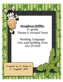 Houghton Mifflin 2nd grade Theme 3 Reading, LA, and Spelling Tests