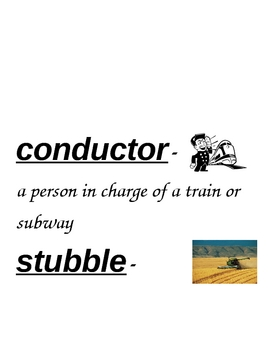 HM By the Shores of Silver Lake Vocabulary Cards