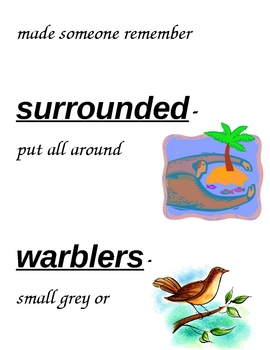 HM Grandfather's Journey Vocabulary Cards